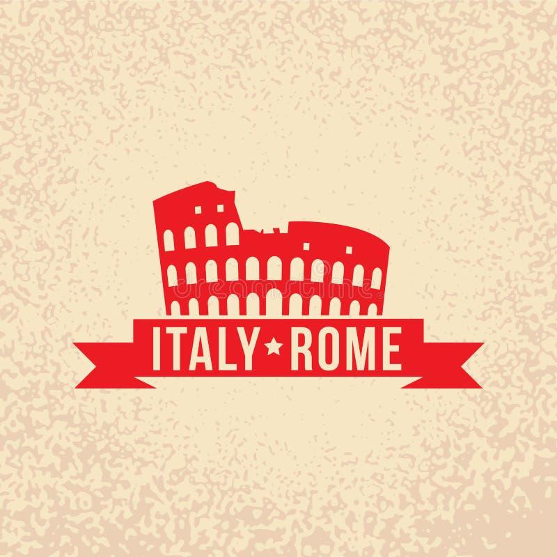 Colosseum - el símbolo de Roma, Italia ilustración del vector