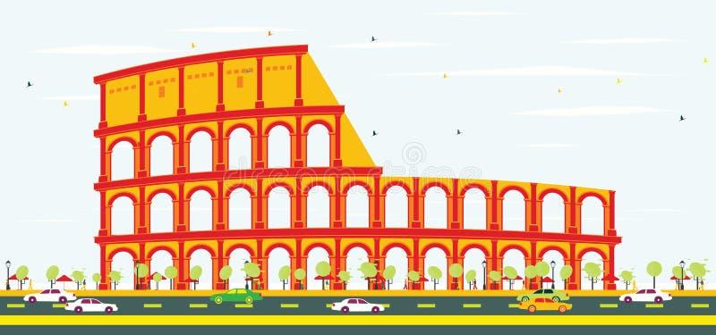 Colosseum em Roma ilustração royalty free