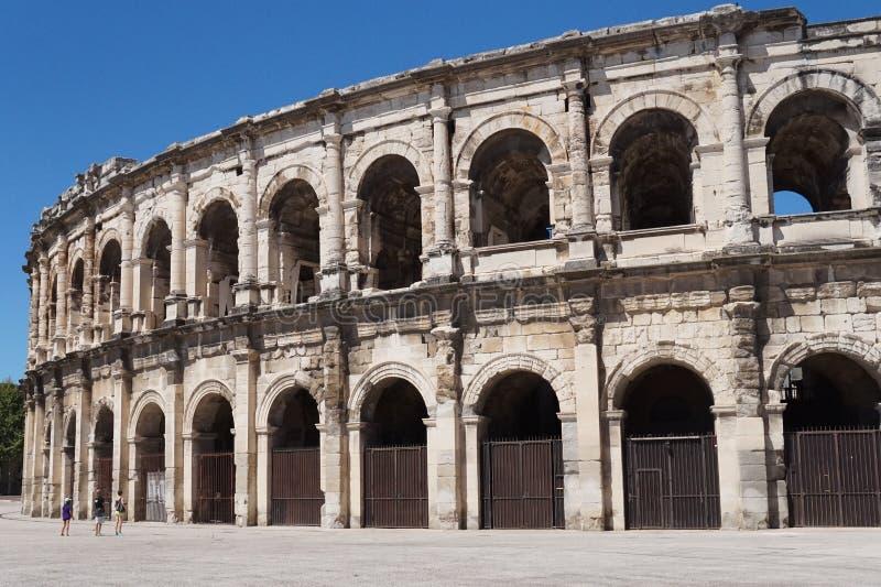 Colosseum en Nimes, Francia fotografía de archivo libre de regalías