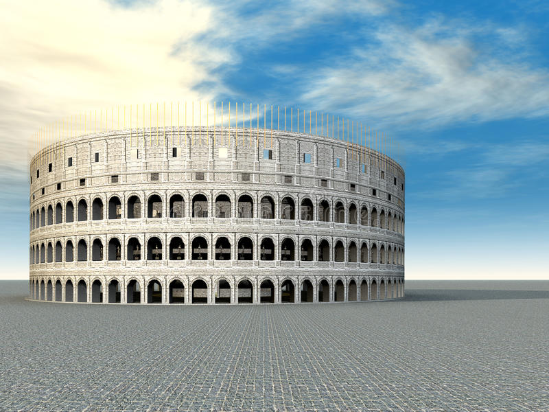 Colosseum en Roma libre illustration