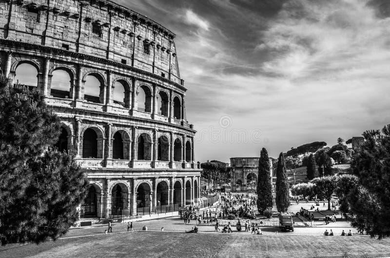 Colosseum en Roma, Italia imagen de archivo