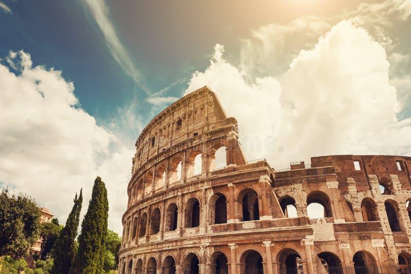 Colosseum en Roma, Italia fotografía de archivo libre de regalías