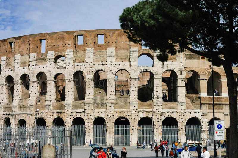 Colosseum or Flavian Amphitheater royalty free stock photo