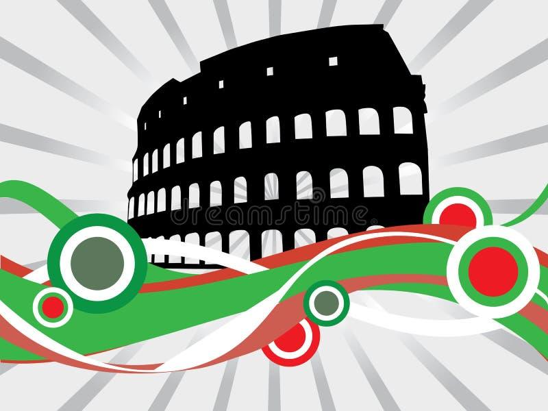 Colosseum floreale royalty illustrazione gratis