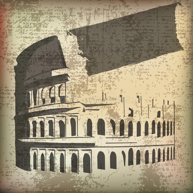 colosseum grunge απεικόνιση αποθεμάτων
