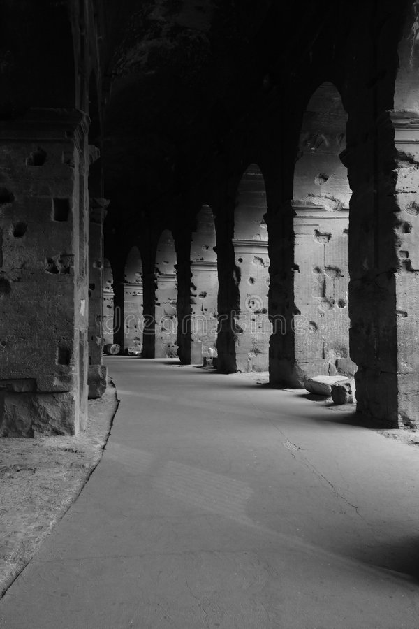 Colosseum hallway royalty free stock images