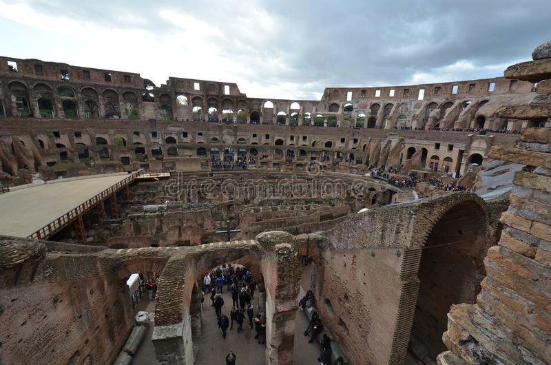 Colosseum, historyczny miejsce, historia starożytna, archeologiczny miejsce, ruiny obrazy stock