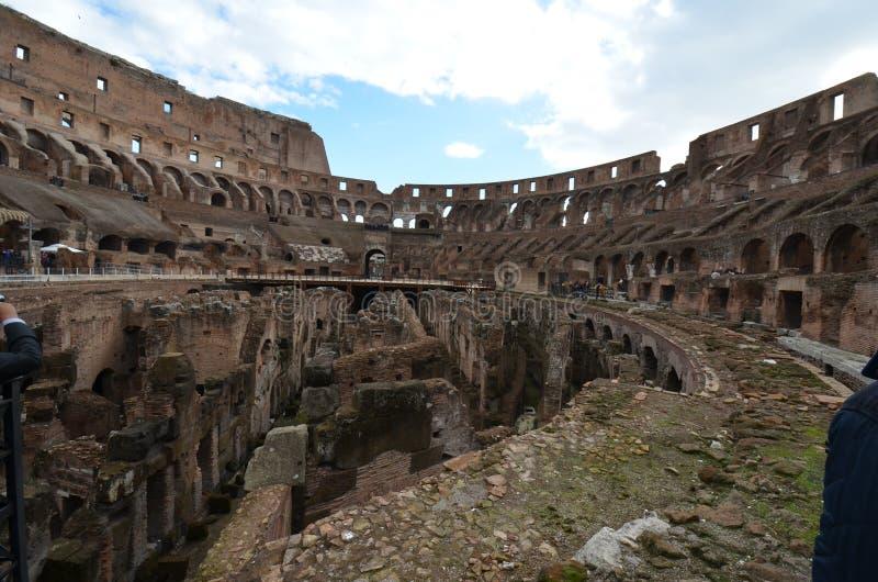 Colosseum, historyczny miejsce, ruiny, amphitheatre, antyczny Rome fotografia royalty free