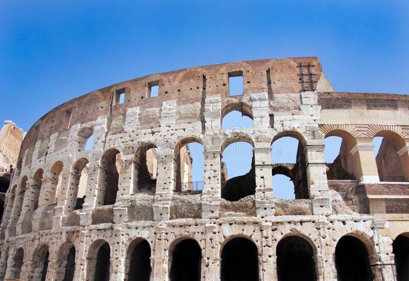 Colosseum i Rome, Italien - nära övre royaltyfri foto
