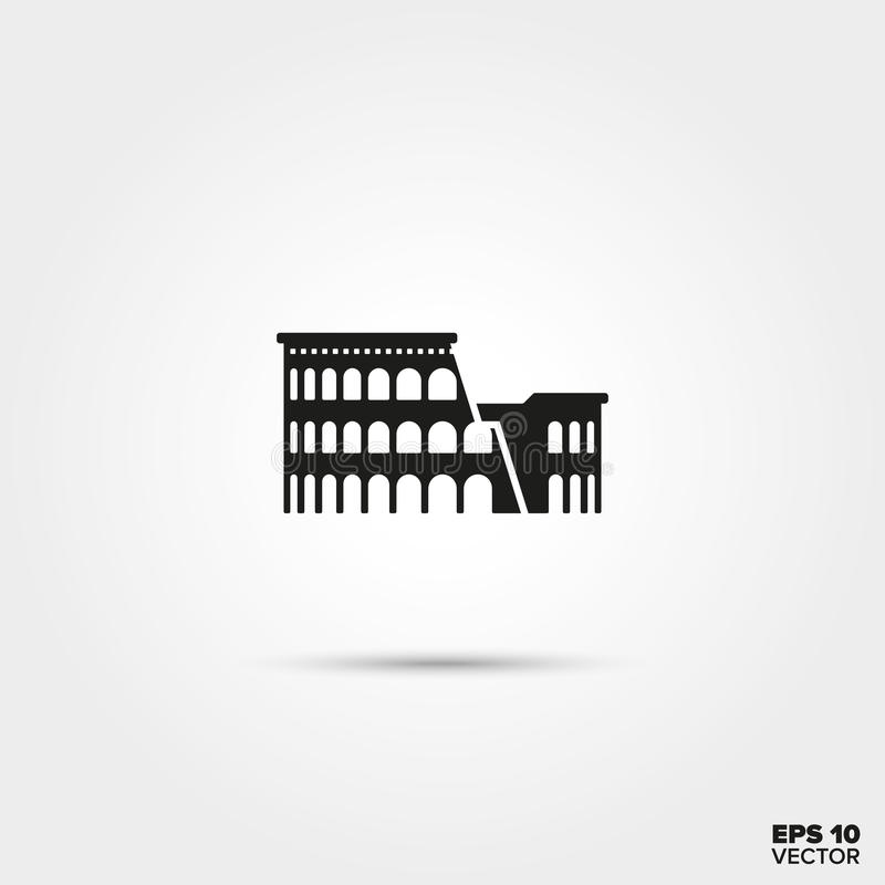 Colosseum ikona ilustracja wektor