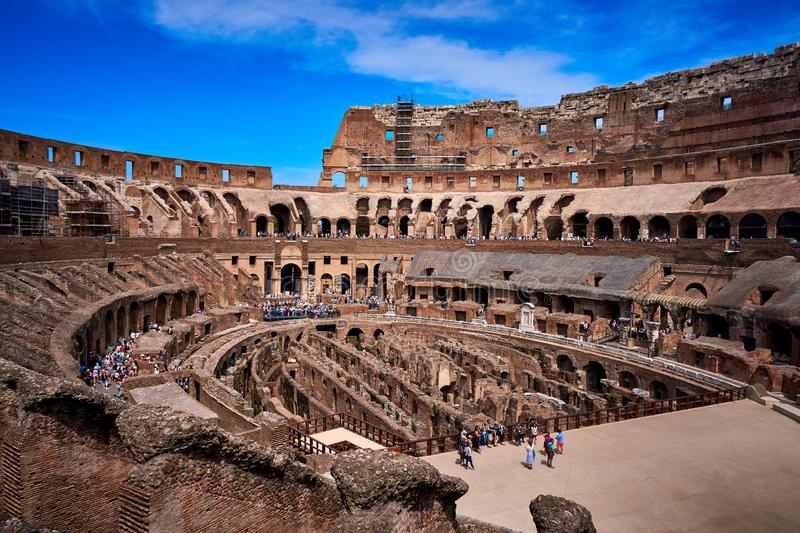 Colosseum inside Rome Italy royalty free stock image