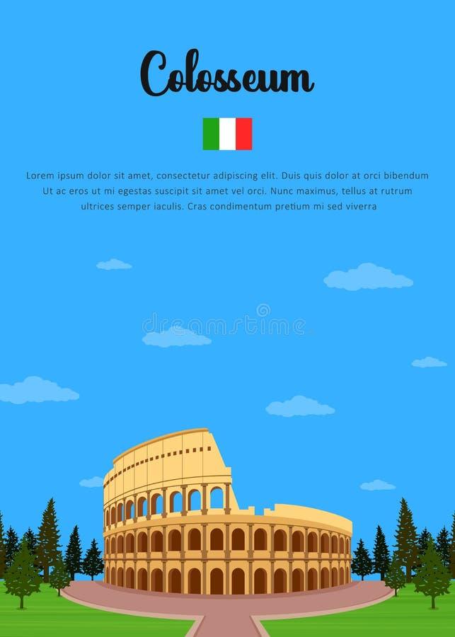 colosseum italy royaltyfri illustrationer