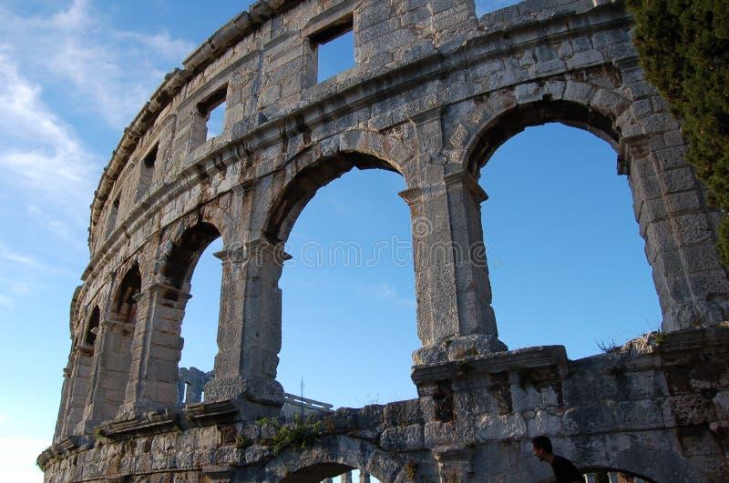 Colosseum in Kroatien lizenzfreies stockbild
