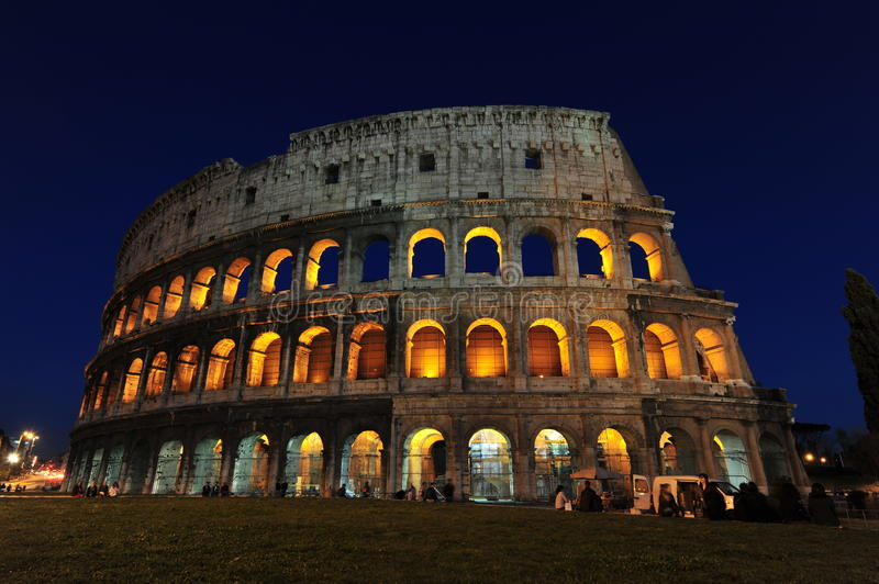 The colosseum - Magic nights in Rome royalty free stock image