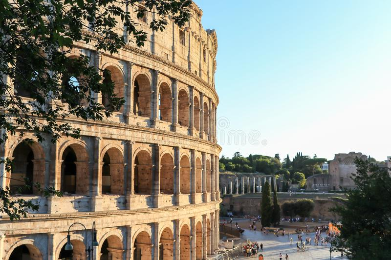 The Flavian amphitheatre 3 - the Colosseum, Rome, Italy. Colosseum is the main travel attraction and the largest amphitheater ever built stock images