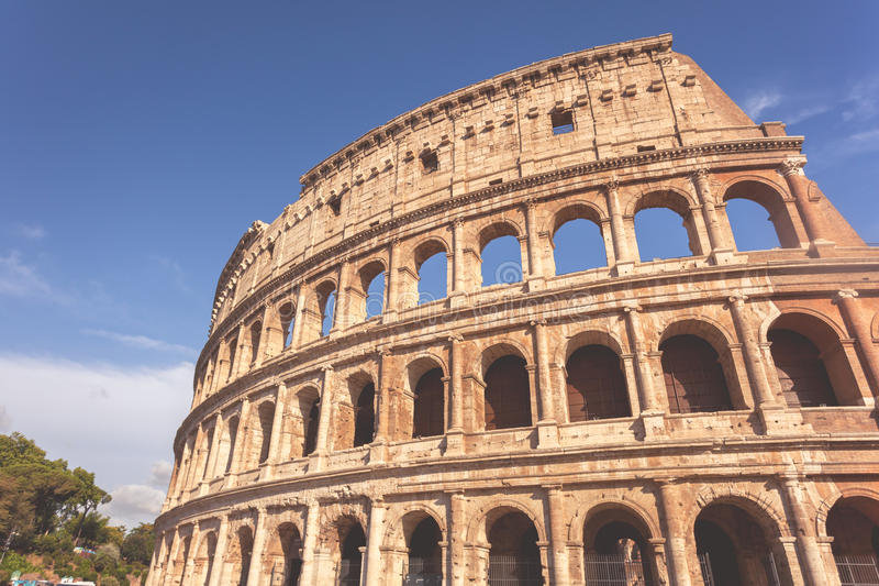 Colosseum in matte toning. Roman Colosseum in matte cinematic toning royalty free stock photography