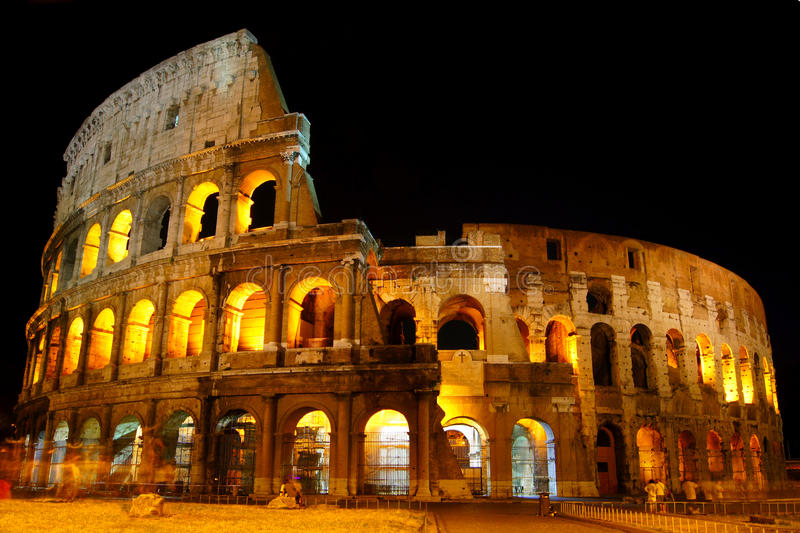 Download Colosseum at night stock photo. Image of glow, antique - 20878688