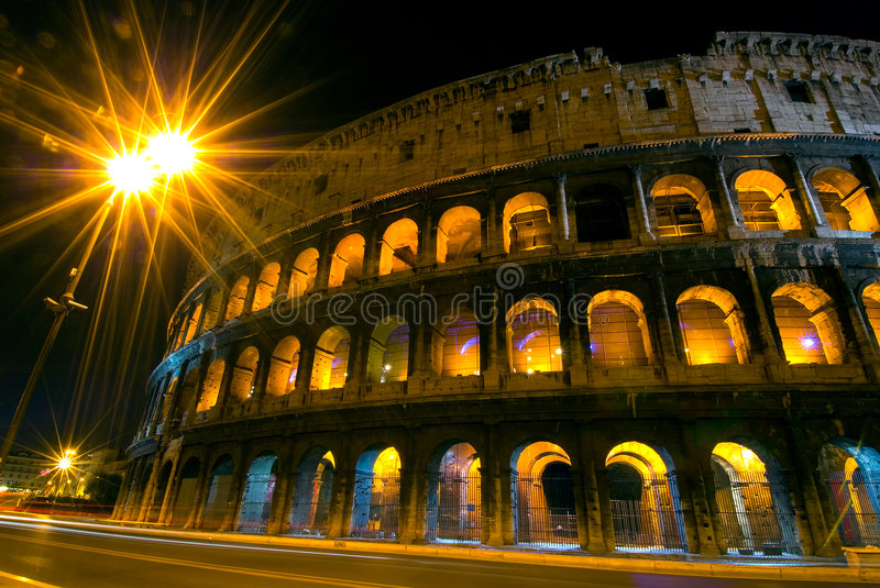 Download Colosseum by night stock photo. Image of italy, columns - 3797692
