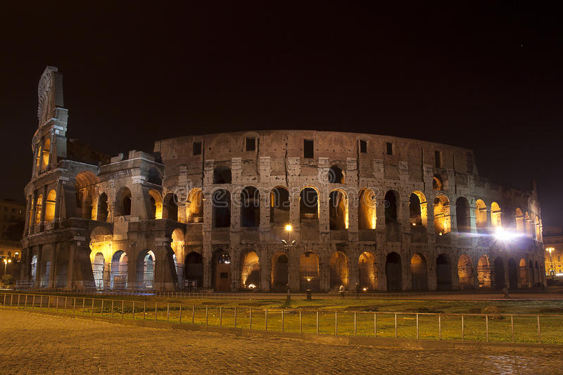 The Colosseum - Night view stock photos