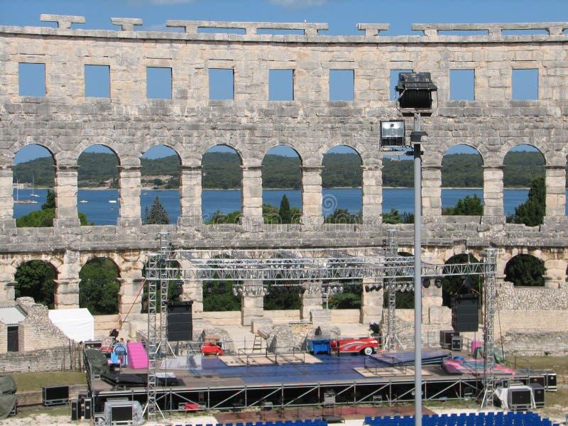 Colosseum in Pola immagine stock