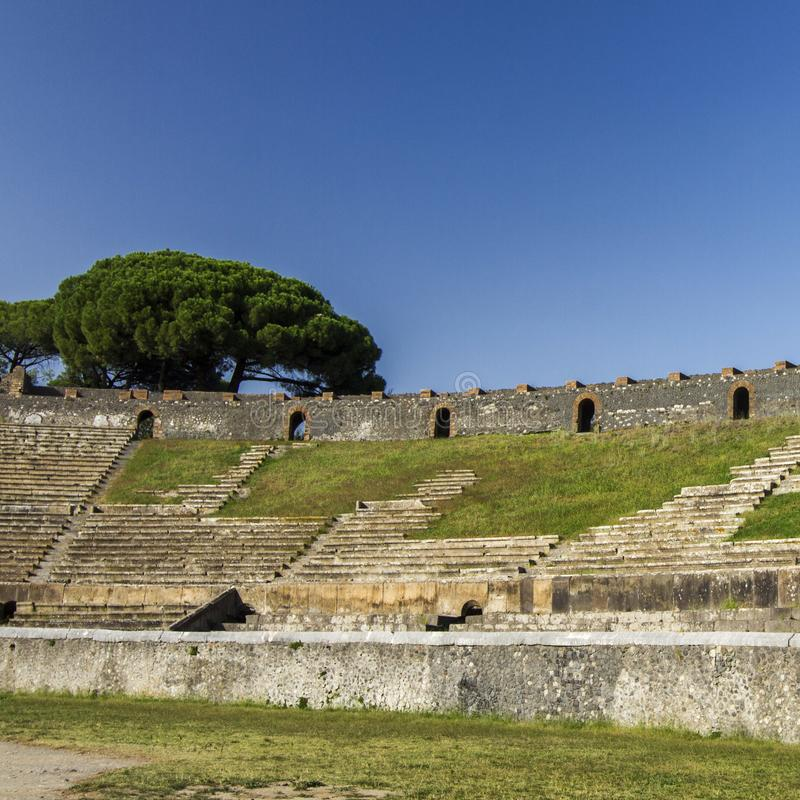 Colosseum in Pompeii. Italy, on a sunny day in summer royalty free stock photo