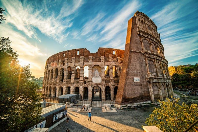 Colosseum, przed zmierzchem, Rzym, Włochy obrazy royalty free
