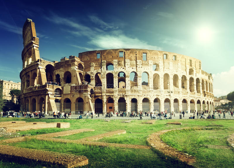 Colosseum in Rom stockfotografie