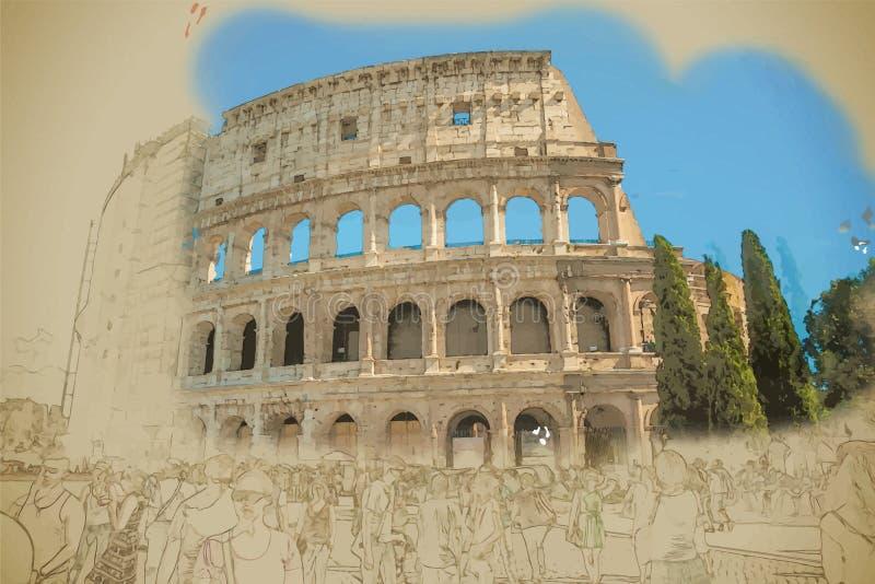 Colosseum, Rom vektor abbildung