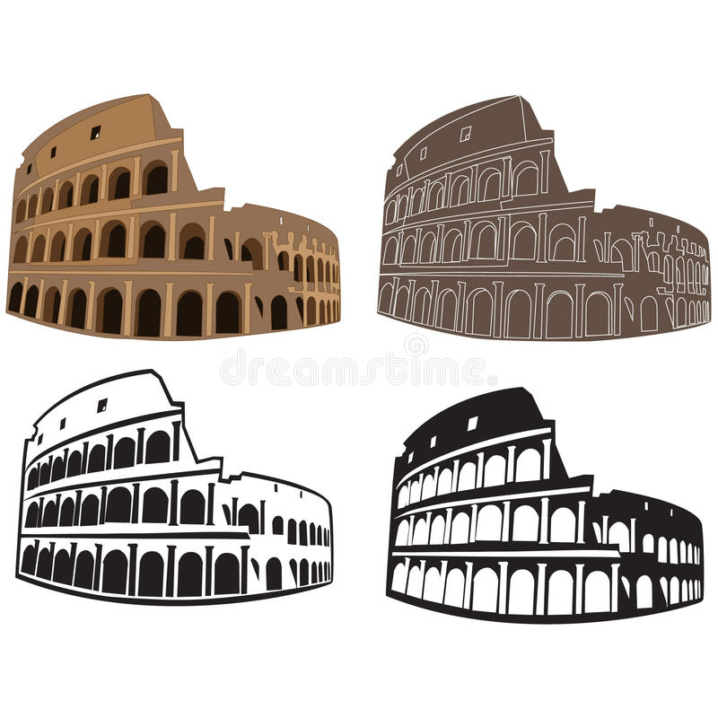 Colosseum, Roma libre illustration