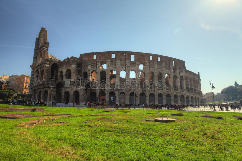 Colosseum in Roma, Italy. At day stock photo