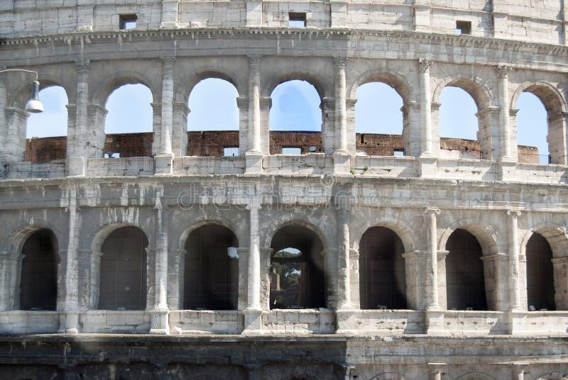Colosseum a Roma Vista frontale immagini stock
