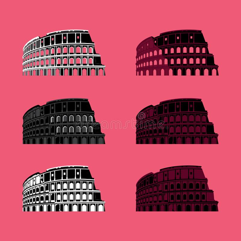 Colosseum Roman Historic Monument Building ilustração stock