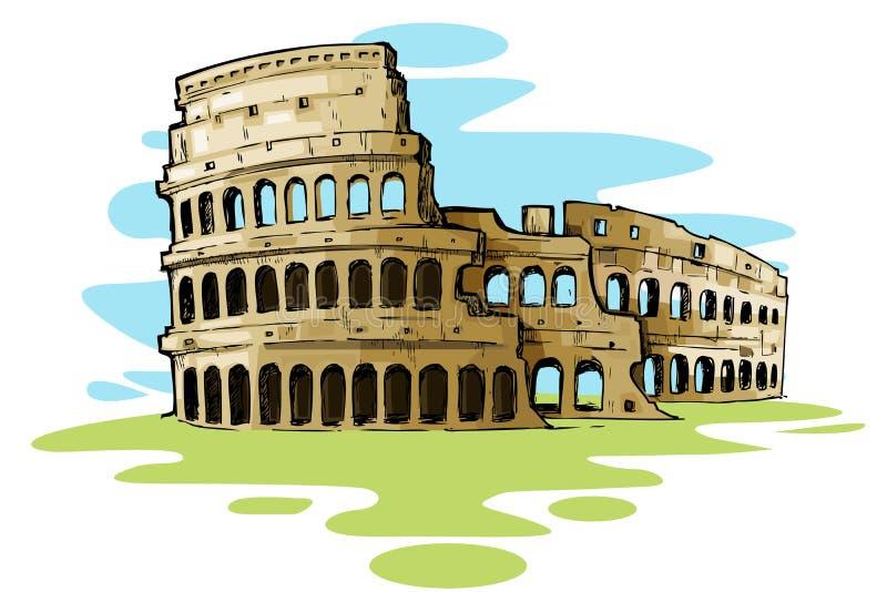 Colosseum romano ilustración del vector