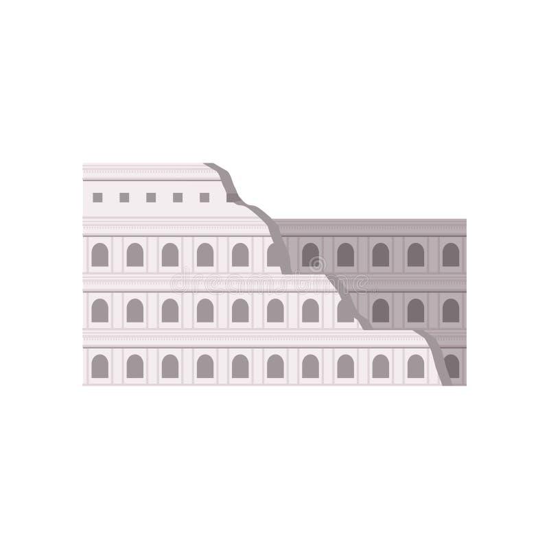 Colosseum romano Ilustração buulding do vetor de Roma, Itália em um fundo branco ilustração royalty free
