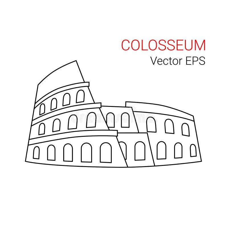 colosseum rome stock illustrationer