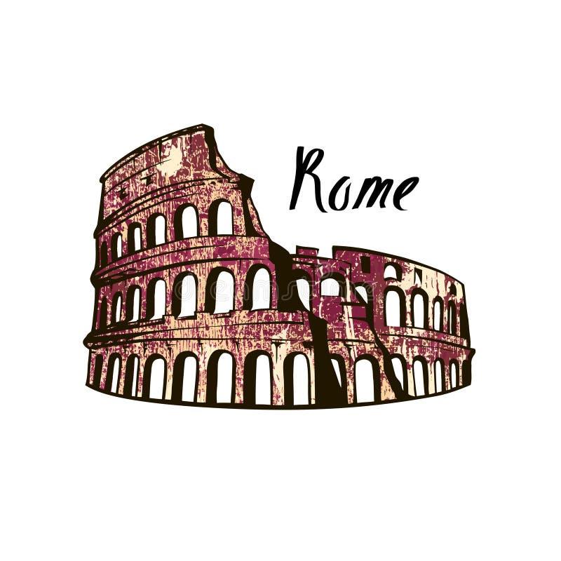 Colosseum Rome bild royaltyfri illustrationer