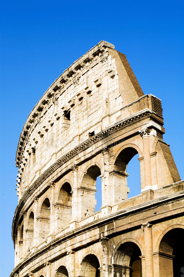 Colosseum Rome blue sky royalty free stock images