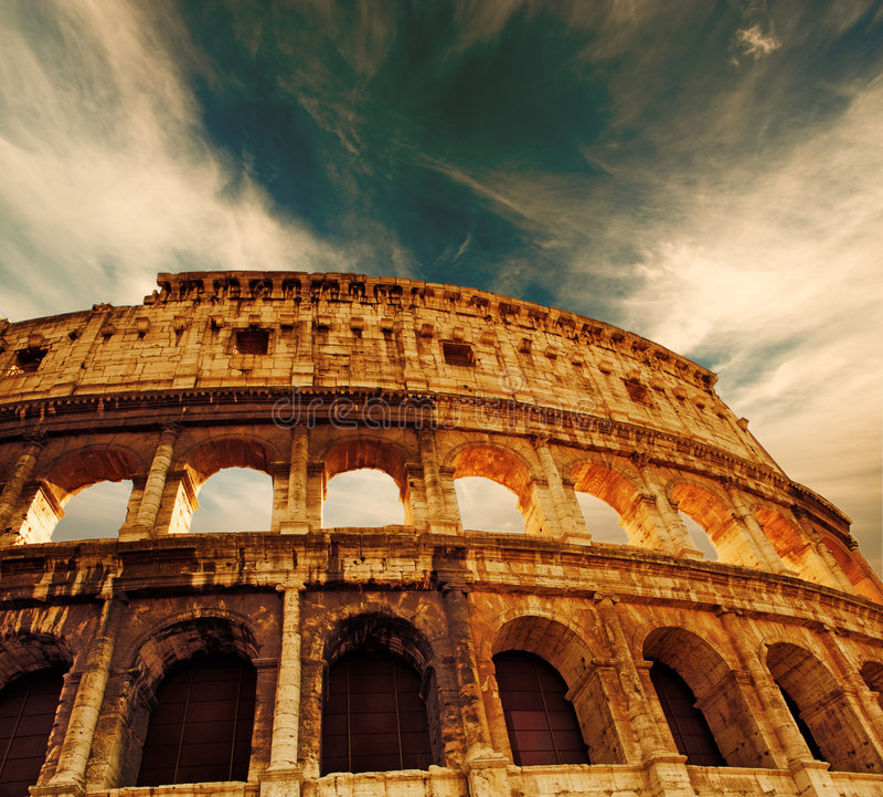 Colosseum (Rome, Italië) stock fotografie
