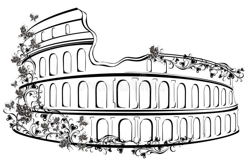 colosseum in rome italy stock vector illustration of coliseum rh dreamstime com