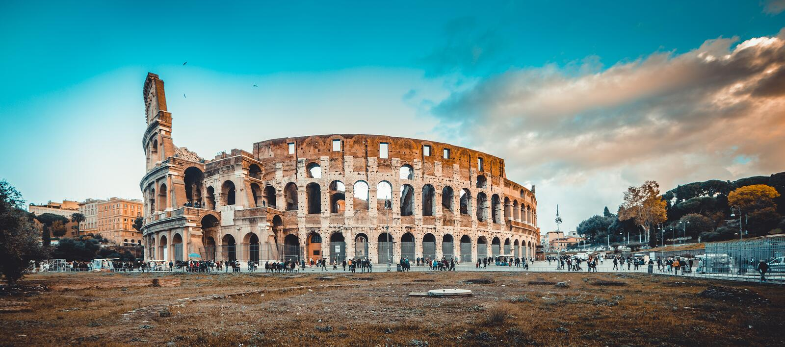 Colosseum in the Rome royalty free stock photos