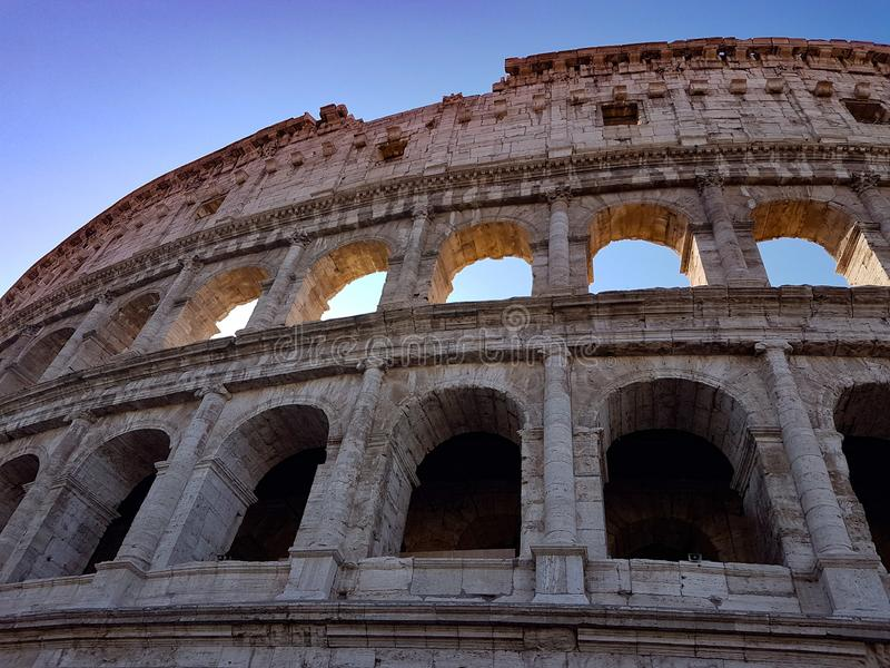 The Colosseum, Rome, Italy. Ruins. stock photography
