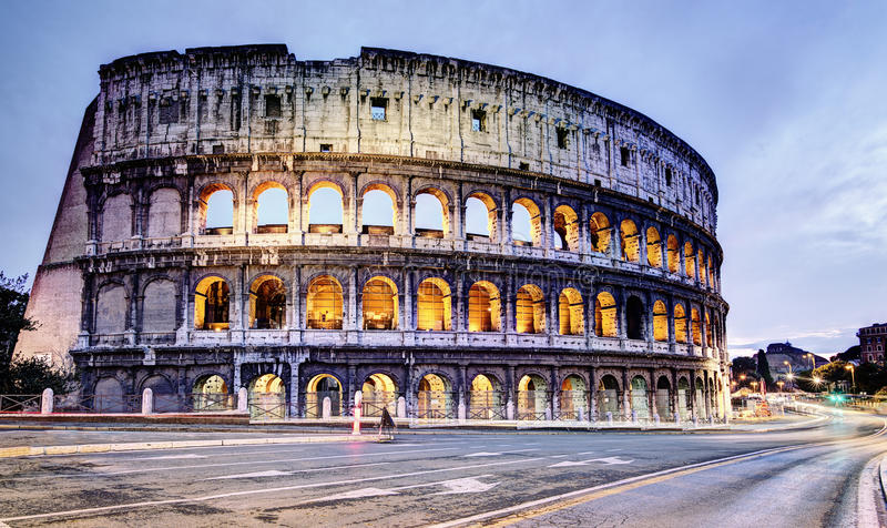 Colosseum Rome. Picture of the Colosseum in Rome, Italy, in the morning stock image