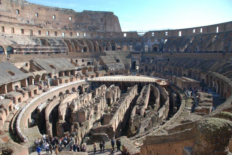 Colosseum, Rzym, antyczny Rome, amphitheatre, punkt zwrotny, struktura obraz stock