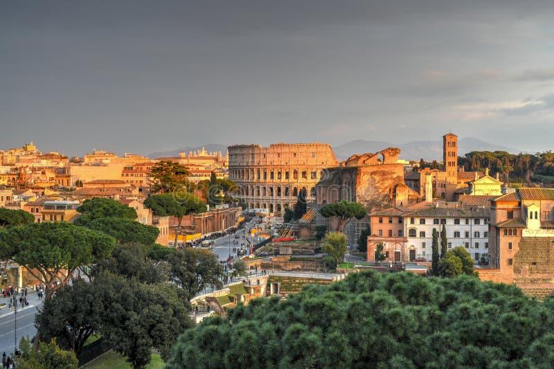 Colosseum, Rzym -, Włochy obraz royalty free