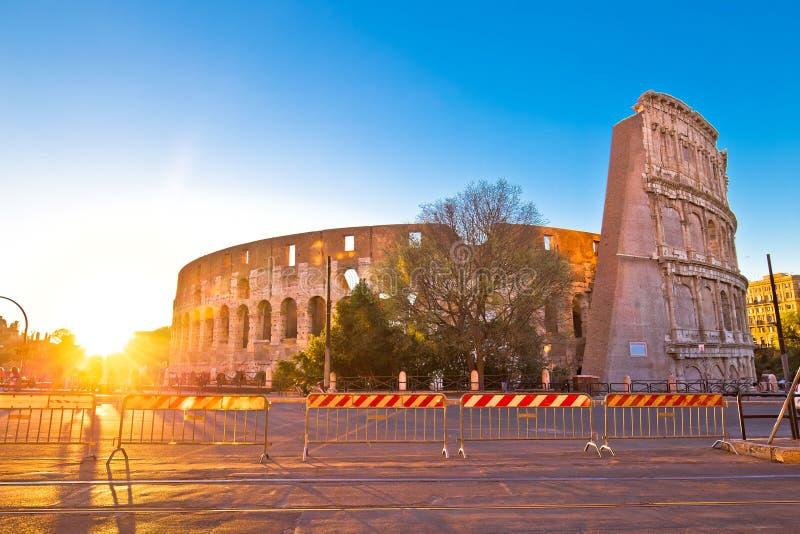 Colosseum Rzym zmierzchu widok zdjęcia royalty free