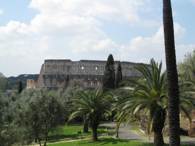 colosseum-seen-from-villa-borghese stock images