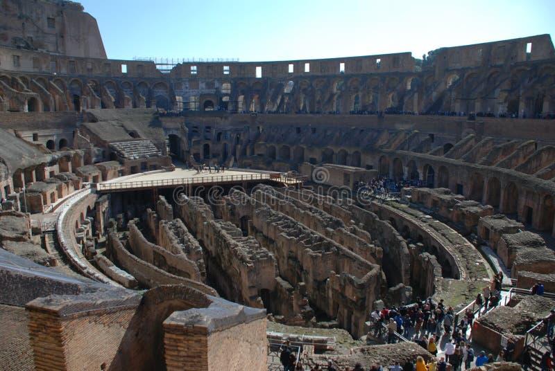 Colosseum, struktura, amphitheatre, antyczny Rome, punkt zwrotny zdjęcie royalty free
