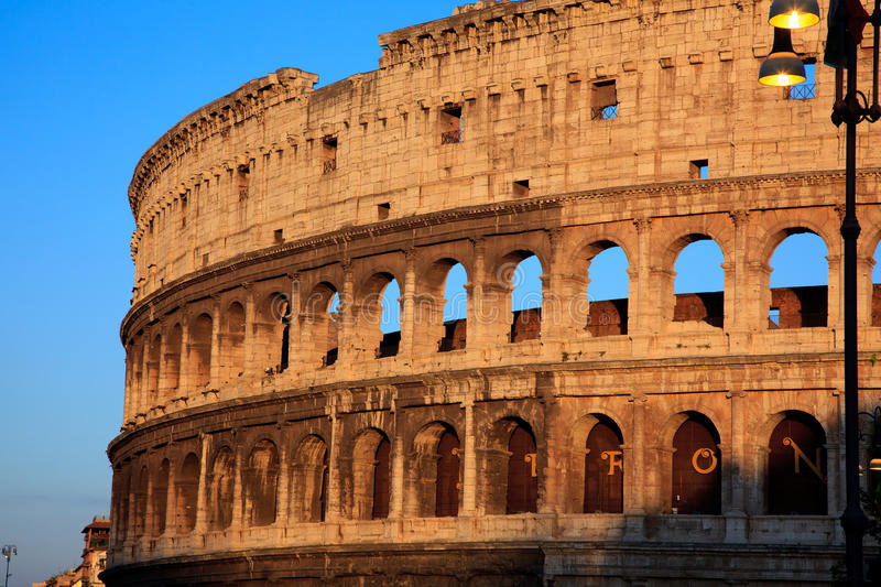 Download Colosseum at sunset stock image. Image of sunset, history - 20810081