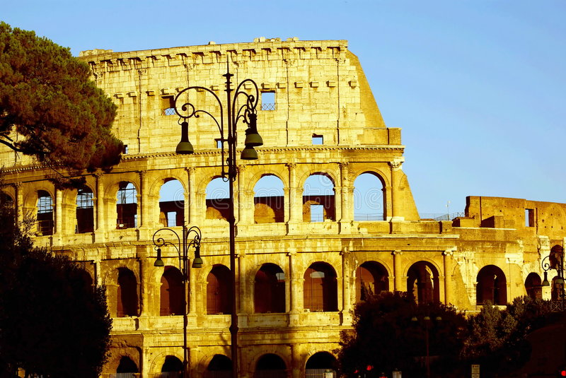 Download Colosseum At Sunset Shadows Stock Photo - Image of battles, famouse: 3754830