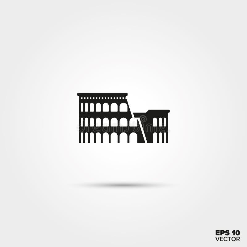 Colosseum symbol vektor illustrationer